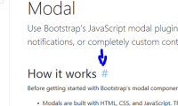 Bootstrap section link.PNG